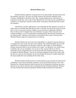 Sherlock Holmes Activity  A Fill In Sherlock Holmess Identity Sherlock Holmes Essay  Asfm Tech Integration