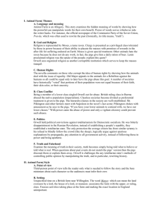 Animal Farm Chapters 1-4 Worksheet #1 Name: Period: Reading