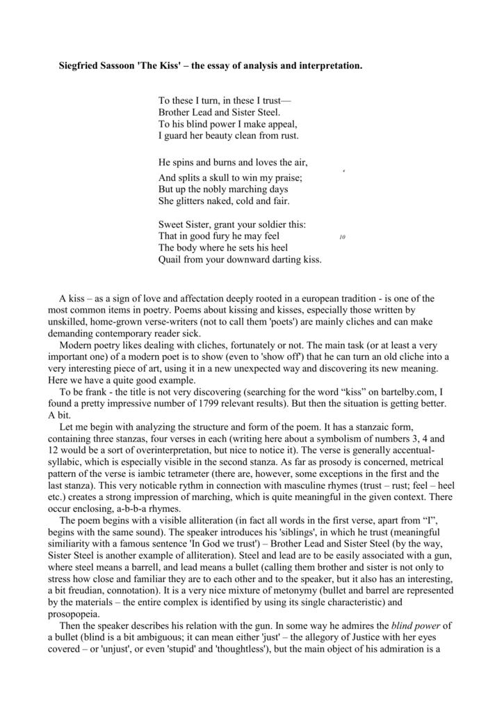 Siegfried sassoon the hero essay chef instructor resume