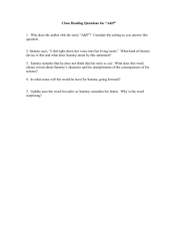 "Close Reading Questions for ""A&P"""