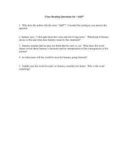 Aandp john updike essay