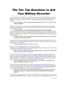 Questions to Ask Your Military Recruiter