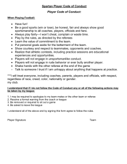 Spartan Player Code of Conduct