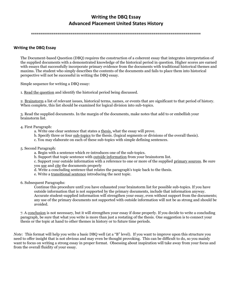 writing a essay format