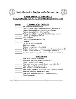 call sheet black belt grading taekwondo association green stripe to green belt