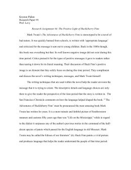 essay on huckleberry finn