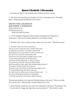 Analysis of queen elizabeths tilbury speech essay