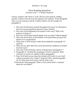 English Literature Essay Questions A Modest Proposal Close Reading Questions Topics For English Essays also Health And Fitness Essays A Modest Proposal Close Reading Questions Buy An Essay Paper