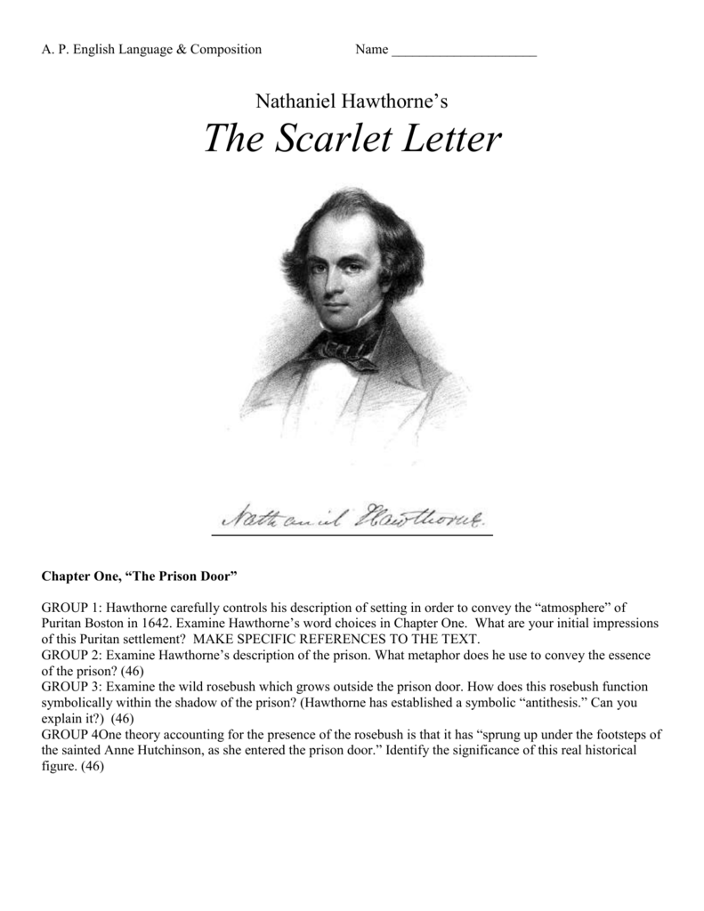 the significance of hawthornes the scarlet letter