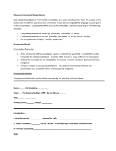 demonstration speech thesis examples