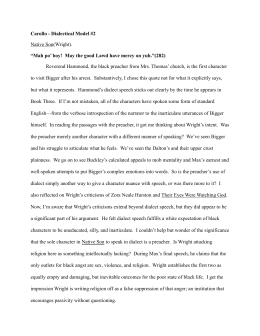 native son dialectical journal Each dialectical journal entry must clearly establish a meaningful connection between an excerpt from the novel and native son rudolfo anaya, bless me, ultima.