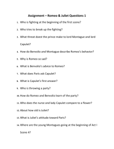 Assignment – Romeo & Juliet Questions 1 Who is fighting at the