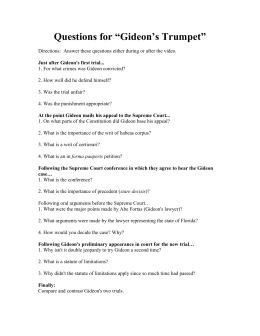 "summer assignment  questions for ""gideon`s trumpet"""