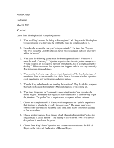 Letter from Birmingham Jail Analysis Questions