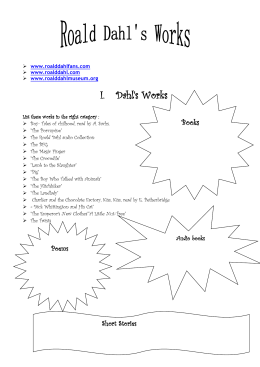 Dahl`s Works List these works in the right category : Boy