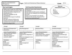 Sports Marketing Chapter 2 Curriculum Map