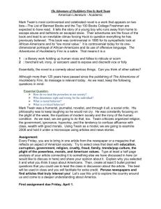 The adventures of huckleberry finn analysis essay