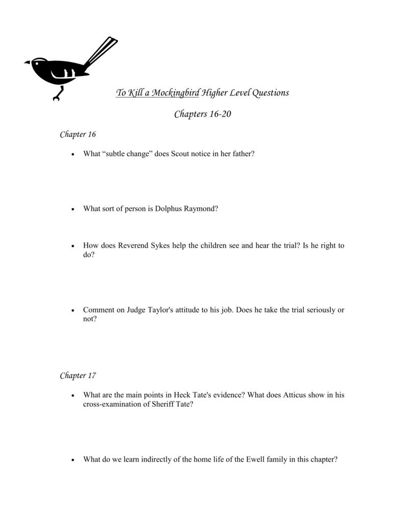 tkam chapter 16 summary