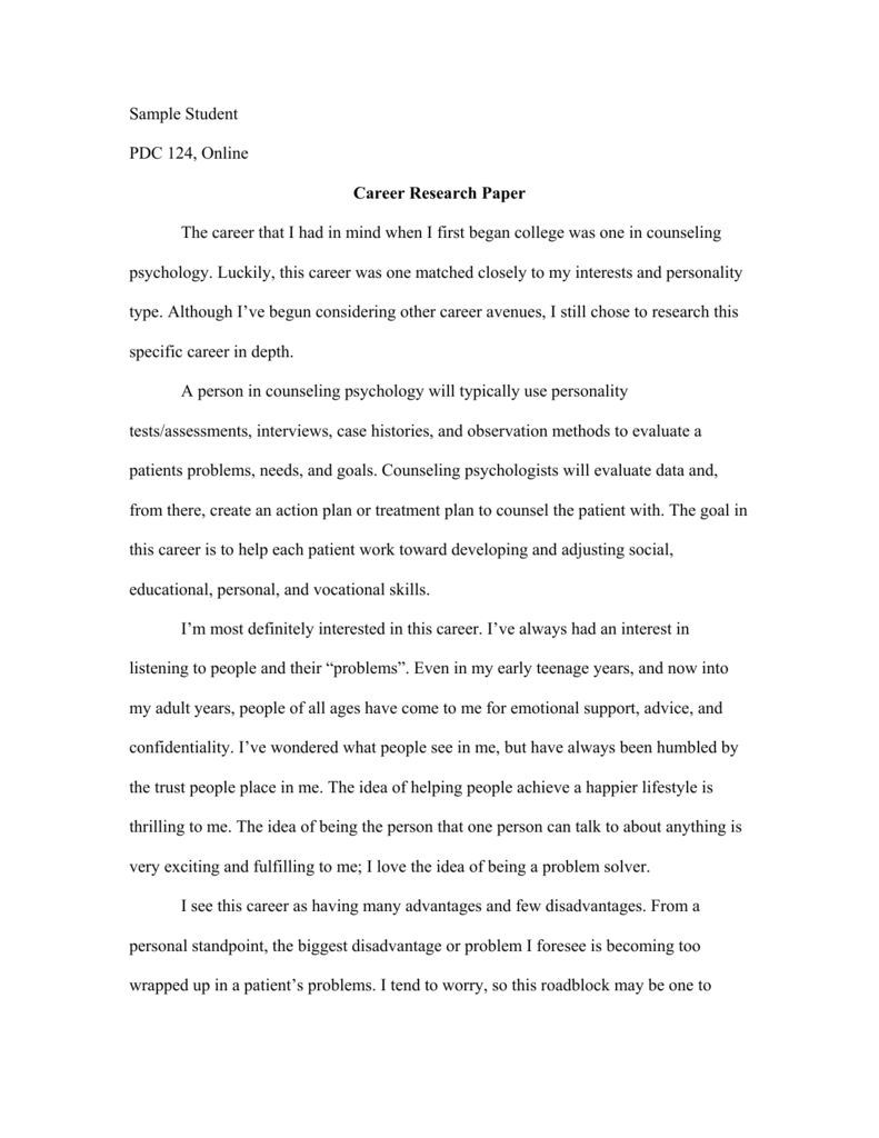 Job research paper