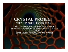 Crystal Project - School of Electrical and Computer Engineering