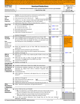 MCC Savings Tax Example - IRS Schedule A