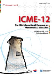 Announcement - ICME-12