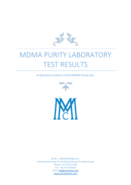 MDMA purity Laboratory Test results
