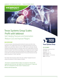 Texas Systems Group Scales Profit with Webroot
