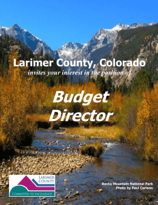 Budget Director - Larimer County