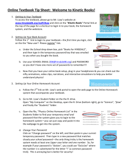 Online Textbook Tip Sheet: Welcome to Kinetic Books!