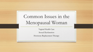 Common Disorders of Menopausal Women — Mickie Autry, PhD