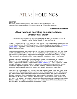 Atlas Holdings operating company attracts presidential praise