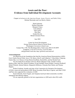 Evidence from Individual Development Accounts