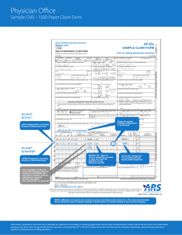 Sample Claim Form (CMS