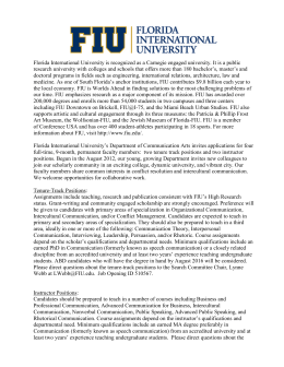florida international university is recognized as a carnegie