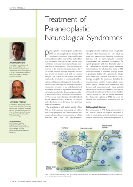 Treatment of Paraneoplastic Neurological Syndromes