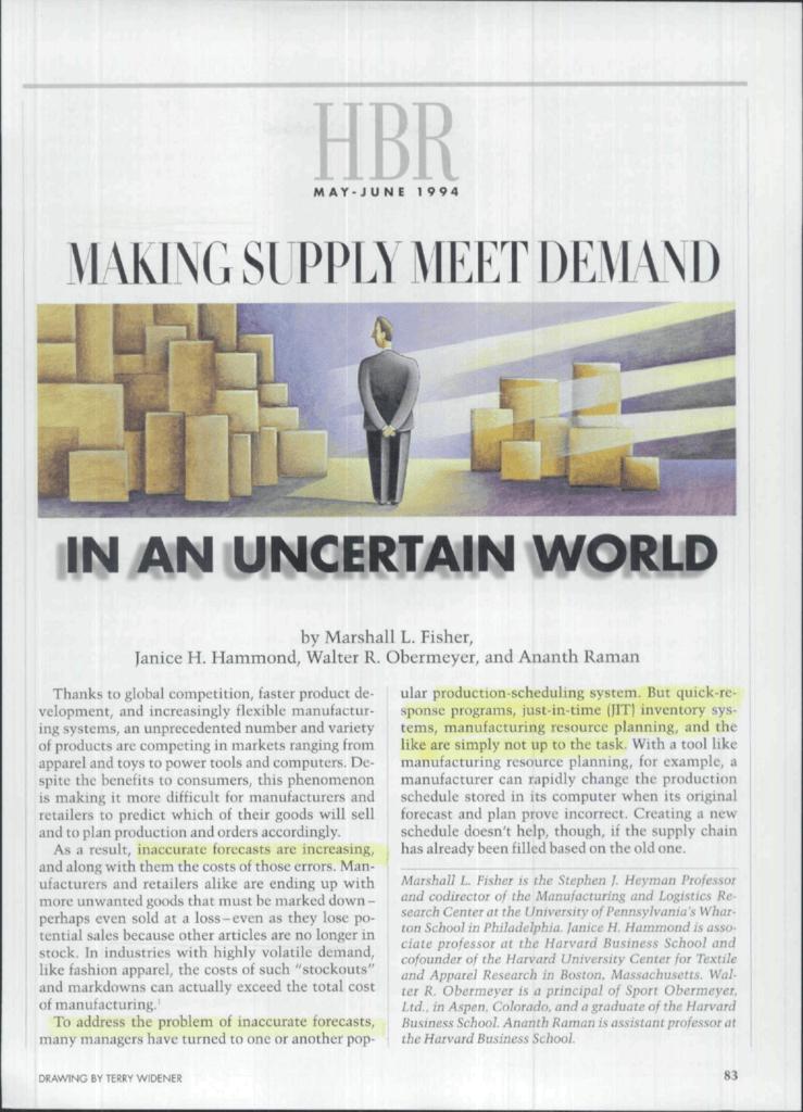 making supply meet demand in an uncertain world