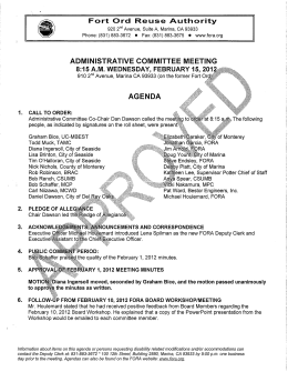 administrative committee meeting agenda