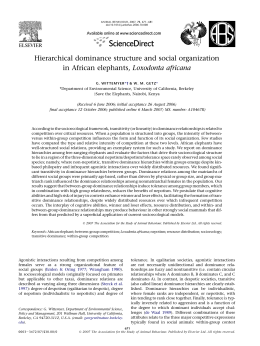 Hierarchical dominance structure and social organization in African