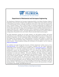 faculty openings - Mechanical and Aerospace Engineering