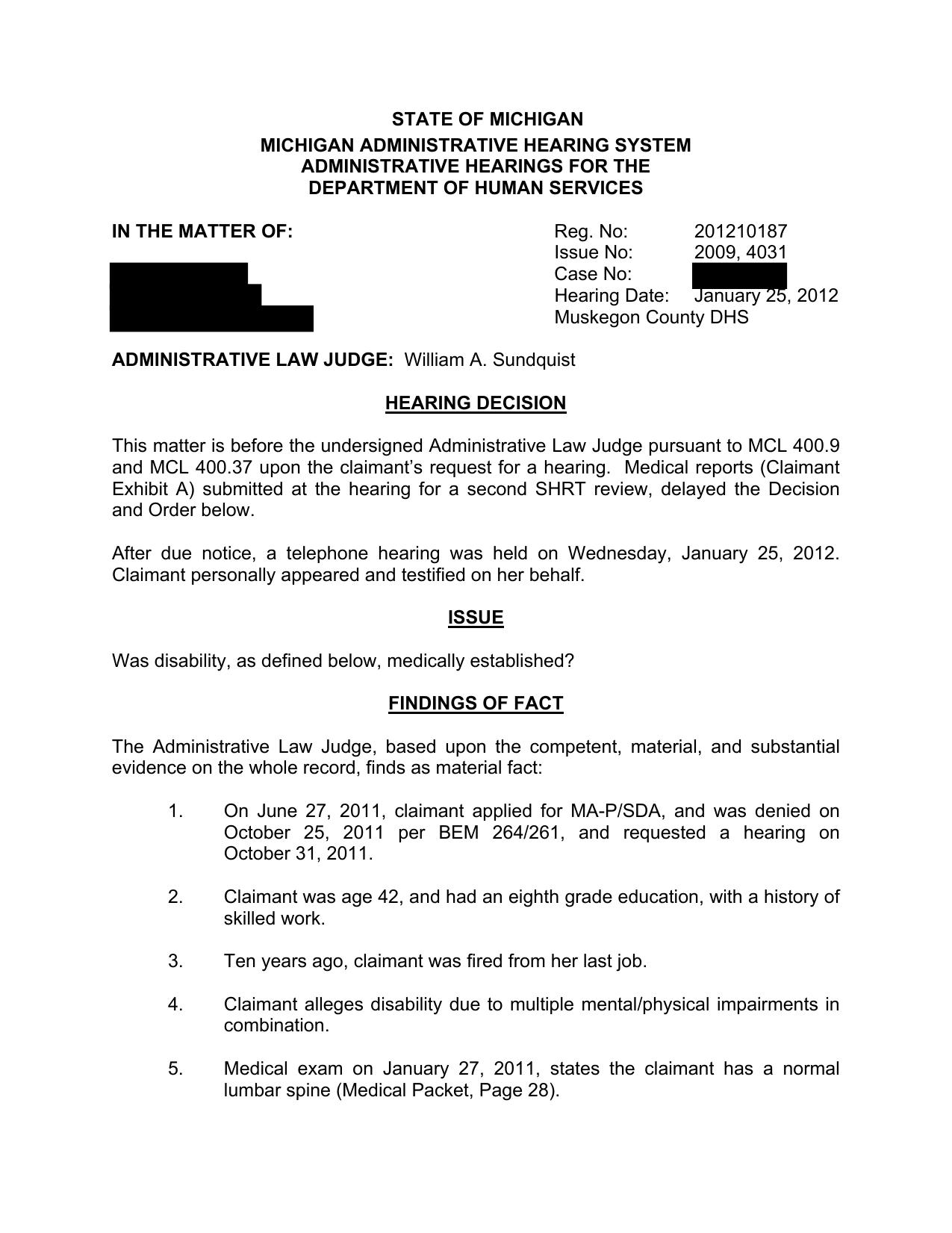 state of michigan michigan administrative hearing system