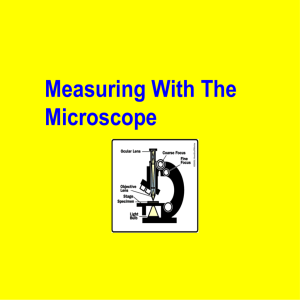 Practice with microscope problems - Answers