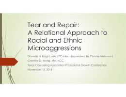 A Relational Approach to Racial and Ethnic Microaggressions