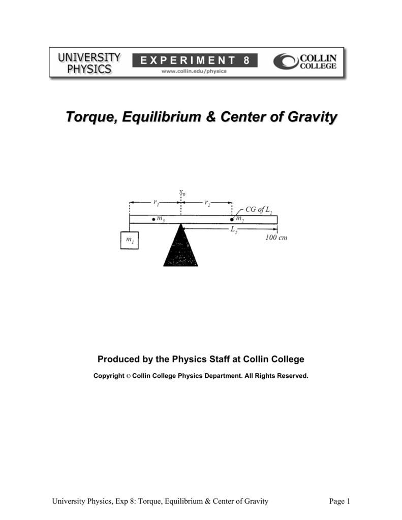 equilibrium of a rigid body lab report