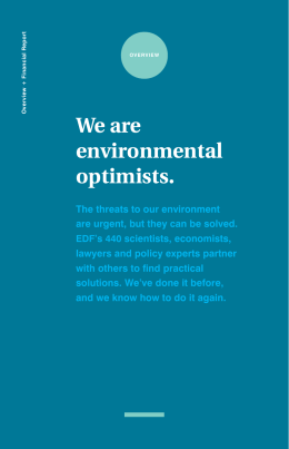 We are environmental optimists.