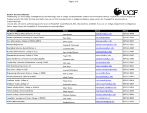 Page 1 of 2 - SDES Directory - University of Central Florida