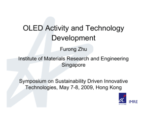 OLED Activity and Technology Development