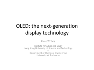 OLED: the next-generation display technology