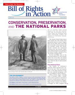 Conservation, Preservation and the National Parks