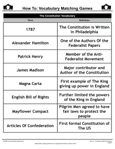 How To: Vocabulary Matching Games 1787 The Constitution is